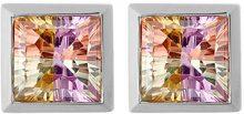 Orphelia Rainbow Collection-Orecchini a lobo da donna in argento Sterling 925 e zirconi multicolore, 30 ml