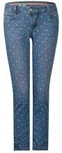 Street One 371339 Crissi, Jeans Slim Donna, Blau (Mid Blue Laser Print 11380), 30W x 28L