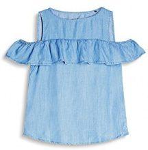edc by Esprit 057cc1f021, Camicia Donna, Blu (Blue Light Wash), 36 (Taglia Produttore: Small)