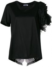 Parlor - flared fitted T-shirt - women - Cotone - OS - Nero
