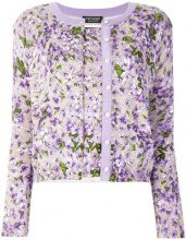 Twin-Set - floral print knit set - women - Cotone/Viscose - S - PINK & PURPLE