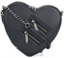 Rebecca Minkoff - small heart cross body bag - women - Leather/Polyester - OS - BLACK