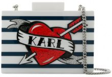 Karl Lagerfeld - Captain Karl Minaudiere clutch - women - Acrylic - One Size - WHITE
