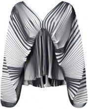 Tome - striped flared blouse - women - Cotone - XS, S, M - Nero