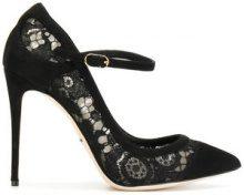 Dolce & Gabbana - Pumps Bellucci Mary Jane - women - Cotton/Calf Leather/Leather/Viscose - 36, 36.5, 37, 37.5, 38.5, 39, 40, 38 - BLACK