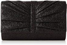 SwankySwansSerafina Shimmer Glitter Clutch Bag Black - Sacchetto Donna, Nero (Black (Black)), Taglia unica