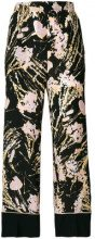 Nº21 - Pantaloni stampati - women - Silk - 42, 46, 40, 38 - Nero