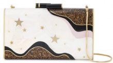 Nathalie Trad - Ellery stars and moons clutch bag - women - Resin/Brass/Shell - OS - NUDE & NEUTRALS