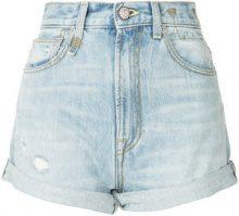 R13 - Shorts 'Hailey' a vita alta - women - Cotone - 25 - Blu