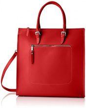 Chicca Borse 8653, Borsa a Mano Donna, Rosso (Red), 35x36x12 cm (W x H x L)