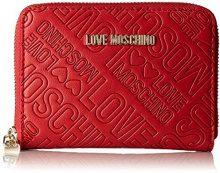 Love Moschino Portafogli Embossed Pu Rosso - Pochette da giorno Donna, Rot (Red), 10x13x2 cm (L x H D)