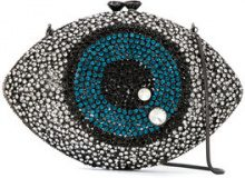 Isla - Olho crystal clutch - women - Glass Fiber/Metallized Polyester/metal - OS - BLUE