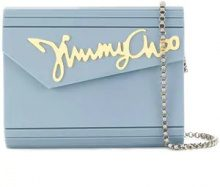 Jimmy Choo - Clutch Candy - women - Goat Skin/Brass/Plexiglass - One Size - BLUE