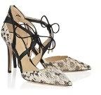 Minitoo-ma52534Polite leopardato punta in pelle pompe scarpe