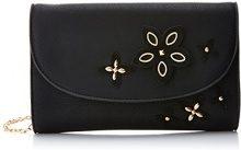 SwankySwans Lisa Smart Faux Leather - Pochette da giorno Donna, Nero (Black), 5x16x25 cm (W x H x L)