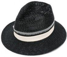Eleventy - trilby hat - women - Viscose/Straw - M - BLACK