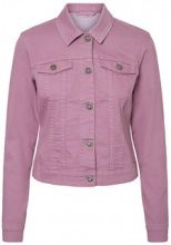 NOISY MAY Short Denim Jacket Women Purple