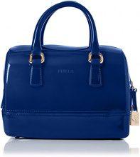 FURLA Candy Cookie S Satchel - Borse a secchiello Donna, Blu (Blu Pavone D), 6.5x12x17 cm (B x H T)