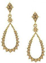 1928 Jewelry-Orecchini color oro, con topazio a forma di goccia, con orecchini a goccia in cristallo