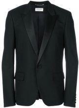 Saint Laurent - Blazer aderente - men - Virgin Wool/Polyester/Cotton/Silk - 48, 50, 46 - BLACK