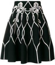 Alexander McQueen - high waisted knitted skirt - women - Viscose/Polyester/Polyamide/Spandex/Elastane - 38, 40, 42, 44 - Nero