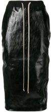 Rick Owens DRKSHDW - Gonna con coulisse - women - Cotton/Polyethylene/Spandex/Elastane - S, L, XS, M - BLACK
