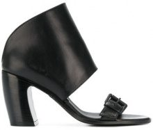 Ann Demeulemeester - Vitello Lux sandals - women - Calf Leather/Leather - 38, 40, 36, 39, 37, 37.5 - BLACK