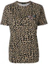 Etro - T-shirt con stampa animalier - women - Cotton/Polyester - 42, 44, 46, 48 - BROWN