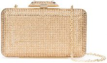 Inge Christopher - metallic box clutch - women - Leather/Silk Satin/glass - OS - METALLIC