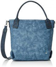 Tom Tailor Acc Donna Jessy Borsa a tracolla, 14,5x 32x 38cm, blu (blu (blu)), 14.5x32x38 cm (B x H x T)