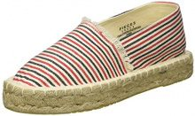 PIECES Pshaila Espadrillos Stripe, Espadrillas Basse Donna, Rosa (High Risk Red), 37 EU