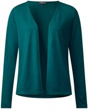 Street One 311904 Nette, Cardigan Donna, Verde (Teal Green 11270), 48
