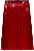 Ssheena - Gonna midi a pieghe - women - Polyurethane - 40 - RED