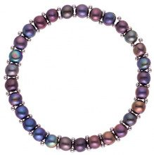 Pearls & Colors Donna acciaio Bottone Perla d'acqua dolce Perla FASHIONNECKLACEBRACELETANKLET