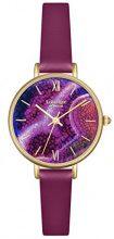 Lola Rose, da donna, colore: viola-Orologio da donna al quarzo con Display analogico e cinturino in pelle, colore: viola, LR2038