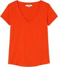 FIND T-Shirt con Scollo a V Donna, Rosso (Sport Red), 46 (Taglia Produttore: Large)