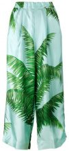 F.R.S For Restless Sleepers - palm leaf print pyjama trousers - women - Silk - S - BLUE