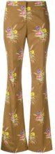 Nº21 - Pantaloni con stampa floreale - women - Cotton/Spandex/Elastane - 38, 40, 42 - BROWN