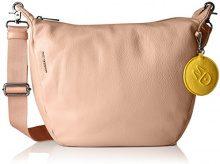 Mandarina Duck Mellow Leather Tracolla - Borse a spalla Donna, Rosa (Dusty Rose), 11x28x30 cm (B x H T)
