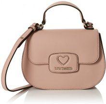 Love Moschino Borsa Calf Pu Rosa - Borse a spalla Donna, (Pink), 8x17x24 cm (B x H T)