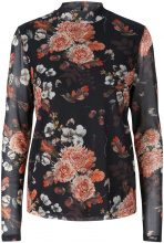 Y.A.S Floral Mesh Long Sleeved Top Women Black