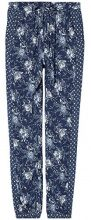 FIND Floral Pantaloni Donna, Blu (Blue), 42 (Taglia Produttore: Small)