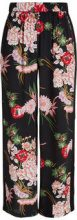 Y.A.S Floral Trousers Women Black