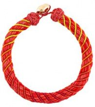 Aurelie Bidermann - 'Maya' necklace - women - Silk/Cotone/18kt Gold Plated Brass/glass - OS - Rosso