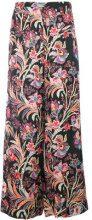 Etro - Pantaloni con stampa floreale - women - Viscose - 44, 40, 38, 42 - BLACK