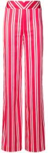 Rouge Margaux - striped wide leg trousers - women - Polyester - 36, 38, 40 - RED