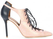 Malone Souliers - lace-up snakeskin pumps - women - Leather - 36.5, 37.5, 38, 38.5, 39, 39.5, 40, 40.5 - PINK & PURPLE