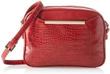 Gaudì Crossbody-Linea Audrey-cm. 25x18,50x6,50, Borsa a Mano Donna, Rosso (Red), 25x18.5x6.5 cm (W x H x L)