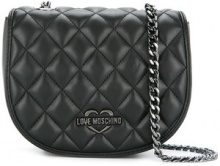 Love Moschino - quilted crossbody bag - women - Polyurethane - One Size - BLACK