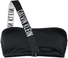 Calvin Klein Jeans - Top bikini monospalla - women - Polyamide/Polyester/Spandex/Elastane - L - BLACK